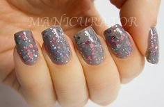 Elle Nail Polish Soft Grey and Pink Nail Lacquer 0.5 by KBShimmer, $8.75