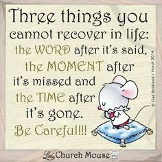 3 Things You Never Recover From: