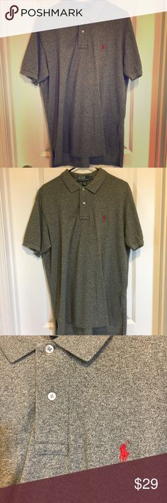 POLO by Ralph Lauren Gray and Red - Large POLO by Ralph Lauren Gray and Red - Large. Great condition! Non-smoking home. Polo by Ralph Lauren Shirts Polos