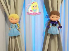 Prendedores de cortina Frozen