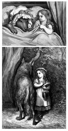Gustave Dore, illustrations for Little Red Riding Hood