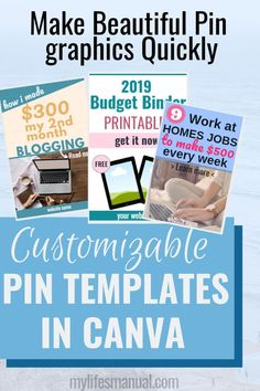 Blogging tips. Pinterest templates. Need help growing your blog? Consistently make new pins on Pinterest. Use these easy to edit Pinterest templates in Canva so you can save time making fresh contents for Pinterest. #blogging #pinteresttemplates #pingraphics #canvatips