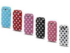 Polka+Dot+TPU+Soft+Case+Hoes+voor+Samsung+Galaxy+S3+(i9300)