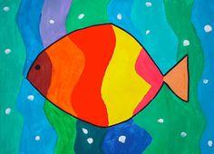 Con gli alunni delle classi prime abbiamo realizzato un dipinto a tempera per sperimentare la varietà dei colori caldi e freddi. La figura ...