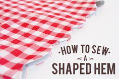 How to sew a Shaped Hem