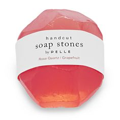 Pelle Soap Stone - rose quartz $9