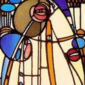 Charles Rennie Mackintosh Stained Glass Panel