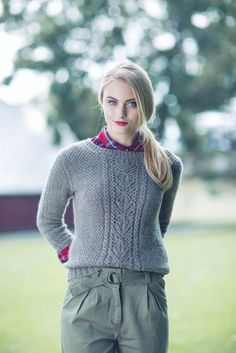Quenna Lee, MacGowan Pullover, knit sweater pattern from Interweave Knits Winter 2016