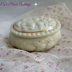 Lenox China Trinket Box Fruits of Life Porcelain Vanity Dish 1998