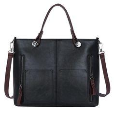 sac cuir mojoyce noir 33*26*12 cm