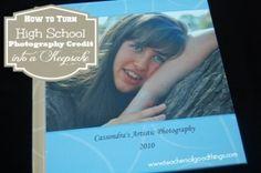 How to Turn High School Photography Credit in a Keepsake www.teachersofgoodthings.com
