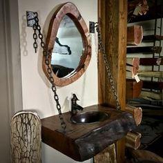 hanging wood vanity