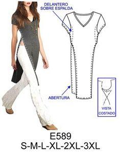 Patrón camisa larga
