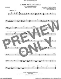 Jones - A Man And A Woman (Un Homme Et Une Femme) sheet music for alto saxophone solo Trombone Sheet Music, Alto Sax Sheet Music, Viola Sheet Music, Virtual Sheet Music, Digital Sheet Music, Ritchie Valens, Complete Music, Brick In The Wall, Roger Waters