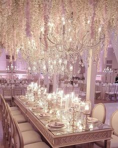 White and silver wedding idea - Wisteria! Since they're climbers, and not a traditional stemmed bloom, it's best to use them hanging.