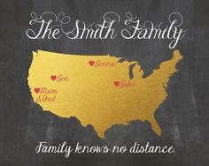 Carte familiale d'impression personnalisé par PrintableQuirks