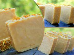 Jabón de leche de cabra y caléndula. Goat milk soap & calendula