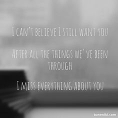 After all the things we ve been through lyrics