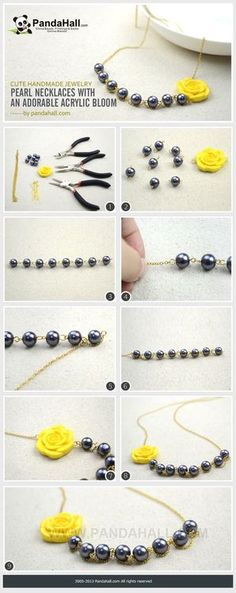 Jewelry Making Tutorial--DIY Pearl Necklaces with Adorable Acrylic Flower | PandaHall Beads Jewelry Blog