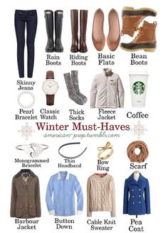 Fall/winter must haves
