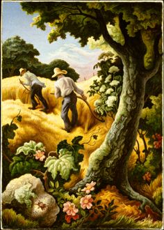 July Hay by Thomas Hart Benton (1943)