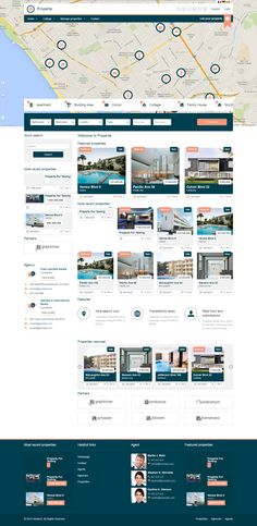blue, listing, grid, real estate, drupal