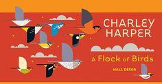 Charley Harper: A Flock of Birds Wall Décor