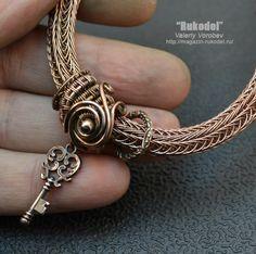 Wire Wrapped Bracelet Viking Knit от vorobev на Etsy