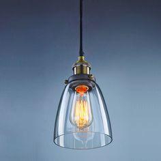 Vintage-Industrial-Pendant-Light-Glass-Lampshade-Retro-Edison-Style-Lamp