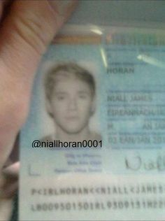 Nialls drivers license picture! Haha beautiful