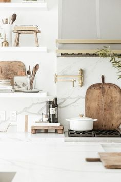 The beautiful kitchen my friends of Public 311 Design featuring a few of our European Bread boards Easy Home Decor, Home Decor Kitchen, Home Decor Trends, Cheap Home Decor, Kitchen Post, Decor Ideas, Kitchen Living, Kitchen Island, Kitchen Ideas