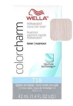 Wella Color Charm Toner - #T18 - Lightest Ash Blonde 1.4 ...