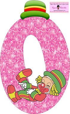 EUGENIA - KATIA ARTES - BLOG DE LETRAS PERSONALIZADAS E ALGUMAS COISINHAS: Alfabeto Patati e Patata Rosa Clown Party, School Frame, Send In The Clowns, Clowning Around, Letters And Numbers, Happy Birthday, Symbols, Scrapbook, Lettering