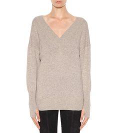 Beige-grauer Pullover aus Cashmere