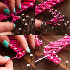Live Creatively: Another Spin on Nail String Art! via Brit + Co.