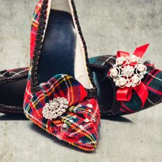 Is there tartan in your wedding? Woudn't it be lovely to have shoes to match your groom's kilt? Send me a meter of his family tartan and I will design your wedding shoes using this fabric. I can make all the wedding party shoes in this tartan for y. Tartan Fashion, Uk Fashion, Holiday Fashion, Holiday Style, Winter Fashion, Tartan Christmas, Christmas Shoes, Christmas Wedding, Xmas