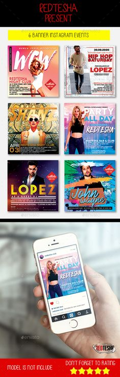 #Instagram Banner Events - #Banners & Ads #Web Elements