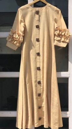 New Dress Prom Silk Beautiful Ideas Silk Kurti Designs, Tunic Designs, Kurta Designs Women, Dress Neck Designs, Kurti Designs Party Wear, Designs For Dresses, Fancy Kurti, Kurti Styles, Kurta Neck Design