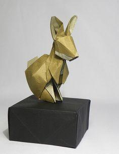 Origami rabbit.