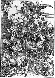 Albrecht Durer: He is known as the greatest artist of the Northern Renaissance and enjoyed painting portraits and hands and showing age in the faces. He was very skilled in his woodcuts and was his main source of income. He learned the art of perspective and perfect form. The Four Horsemen of the Apocalypse was a woodcut that shows support for Martin Luther. It shows stormy weather and the death that was occurring because of the conflict.