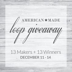 Time is running out.  If you haven't jumped into the loop yet. Do it now!  #AmericanMadeLoopGiveaway with 13 talented Makers!  Each Maker is known for their #AmericanMade products  dedicated to the support of #smallbiz!  If you complete the loop youll have the chance to win one of 13 different prizes!  We are giving away a CHRISTMAS COOKIE 14oz candle ($28 value)  From here go to the NEXT MAKER  @marcnelsondenim  Here are the rules for this loop giveaway: Follow all of the accounts in the…