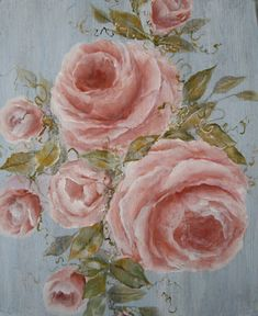 shabby chic rose paintings   Shabby Chic Roses Photo Print of Original Art by Lydia Ward