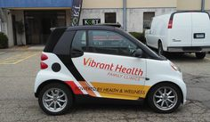 Vehicle graphics for Vibrant Health in River Fall, WI. Go get 'em little guy!