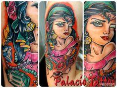 Gitana tattoo de #dannyta en Palacio Art Tattoo