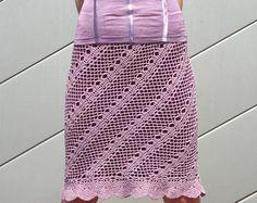 Maxi falda patrón ganchillo había detallado por CONCEPTcreative