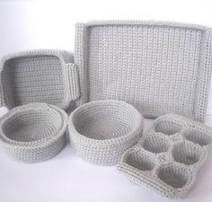 crochet cooking pans