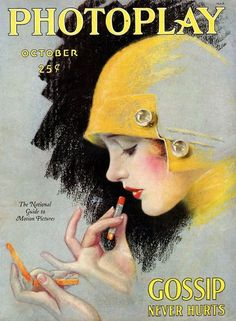 Vintage Photoplay cover (circa 1920s) By: illustrator Charles Gates Sheldon - via American Art Archives