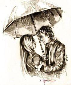 diaries vampire drawing damon elena delena salvatore drawings gilbert stefan fan amor sketches desenhos che tvd lindos fundo google dairies