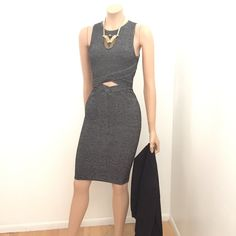 (Lowest Price) 2 PIECE SET: Knit Crop Top & Skirt (Listing sale. Price will increase.) Your outfit possibilities will seem infinite with this marled-knit top & skirt duo. Wear it together to give people the illusion that you're wearing a cutout dress, or separate as in the second picture.  The knit will almost feel as if it's sucking you in, like a bandage, it's that strong! Get it now! Skirts Skirt Sets