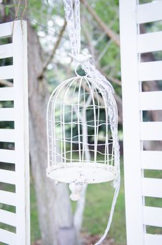 Bird Cages + Shutters Hanging In The Trees    @ Blush Events    ©Guillermo Raya Photography and Ross Knight Photography    theblushevent.com
